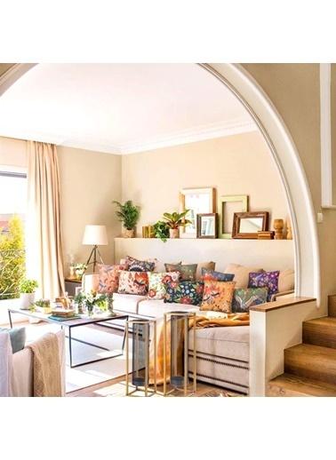 The Mia Fantasy Flower Yastık C - Hardal 50 x 30cm Hardal